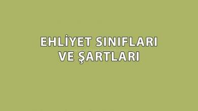 Photo of Ehliyet Sınıfları ve Şartları